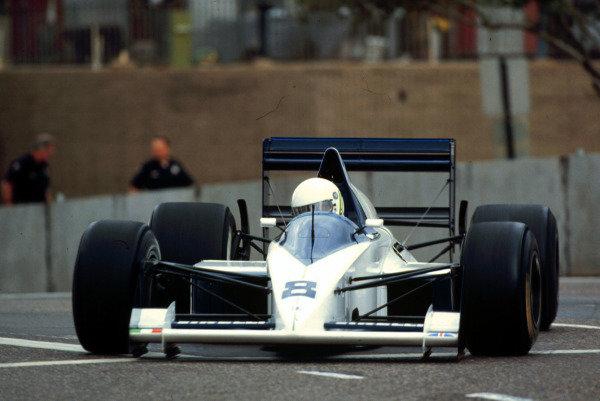 1990 United States Grand Prix.Phoenix, Arizona, USA.9-11 March 1990.Stefano Modeno (Brabham BT58 Judd) 5th position.World Copyright - LAT Photographic