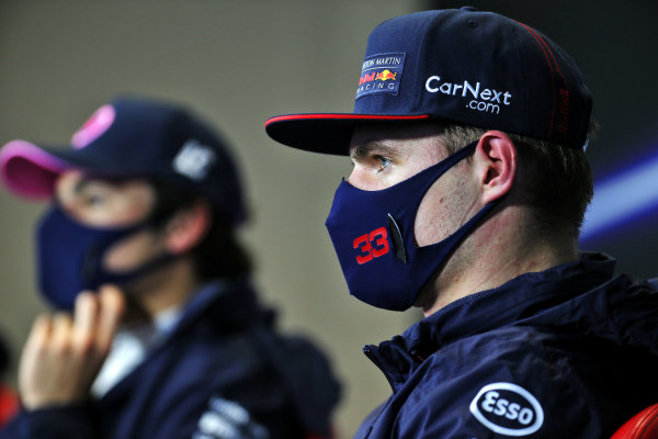 Max Verstappen, Red Bull Racing, in the post Qualifying Press Conference