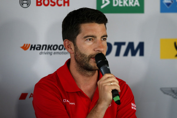 Press Conference, Mike Rockenfeller, Audi Sport Team Phoenix.