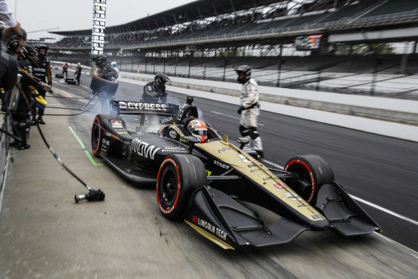 James Hinchcliffe, Arrow Schmidt Peterson Motorsports Honda, pit stop