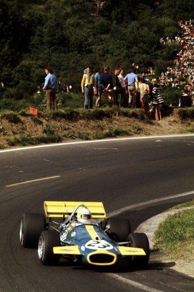 1970 French Grand Prix.Clermont-Ferrand, France.3-5 July 1970.Jack Brabham (Brabham BT33 Ford) 3rd position.Ref-70 FRA 29.World Copyright - LAT Photographic