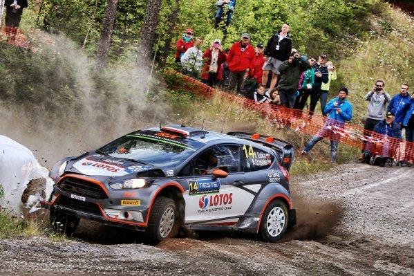Robert Kubica (POL) / Maciek Szczepaniak (POL) Ford Fiesta RS WRC at FIA World Rally Championship, R8, Neste Oil Rally Finland, Day Two, Jyvaskyla, Finland, Saturday 1 August 2015.