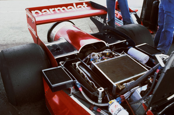 Anderstorp, Sweden.15 - 17 June 1978.The rear end of Niki Lauda's Brabham BT46B Alfa Romeo fan car. After his 1st position in the race, the car was promptly and controversially banned before the next Grand Prix.World Copyright: LAT Photographic.Ref: 35mm Transparency.