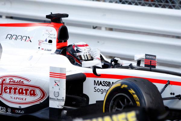 2013 GP2 Series. Round 4.  Monte Carlo, Monaco. 54th May 2013. Saturday Race. Stefano Coletti (MON, Rapax) celebrates his victory.  World Copyright: Glenn Dunbar/GP2 Series Media Service. Ref: _89P2788