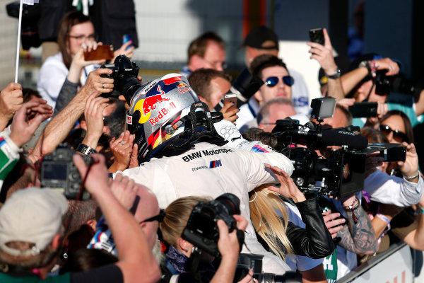 2017 DTM Round 9  Hockenheimring, Germany  Sunday 15 October 2017. Race winner Marco Wittmann, BMW Team RMG, BMW M4 DTM  World Copyright: Alexander Trienitz/LAT Images ref: Digital Image 2017-DTM-HH2-AT2-1911