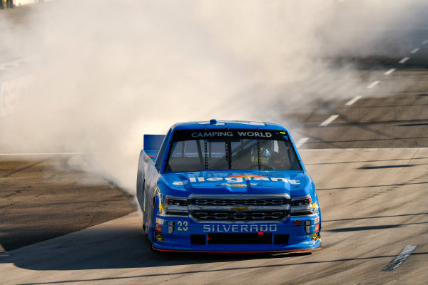 NASCAR Camping World Truck Series Alpha Energy Solutions 250 Martinsville Speedway, Martinsville, VA USA Saturday 1 April 2017 Chase Elliott celebrates his victory World Copyright: Scott R LePage/LAT Images ref: Digital Image lepage-170401-mv-3093