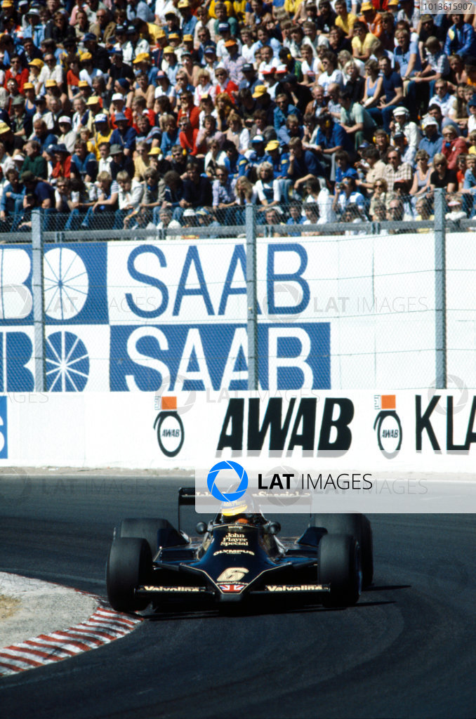 Anderstorp, Sweden. 15 - 17 June 1978.Ronnie Peterson (Lotus 79-Ford) 3rd position, action. World Copyright: LAT Photographic.Ref:  78SWE