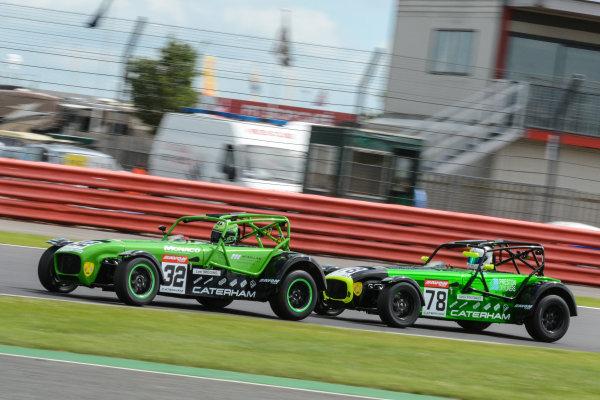 2017 Avon Tyres Caterham Seven 420-R Championship, Silverstone, 11th-12th June 2017, Lee Wiggins Caterham 420R. World copyright. JEP/LAT Images