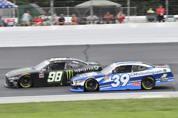 #98: Riley Herbst, Stewart-Haas Racing, Ford Mustang Monster Energy, #39: Ryan Sieg, RSS Racing, Ford Mustang CMR Construction and Roofing / A-Game