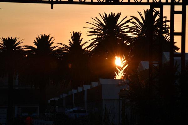Sunrise over the Paddock