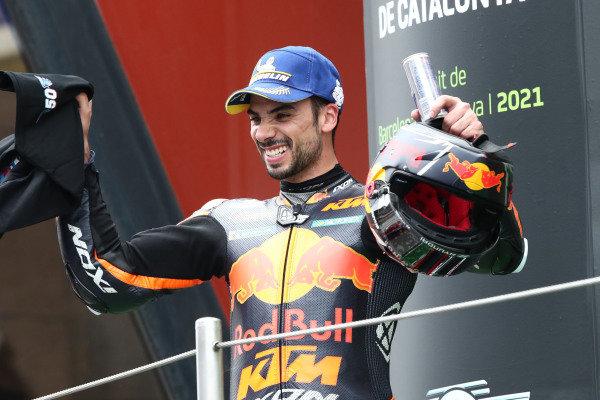 Podium: race winner Miguel Oliveira, Red Bull KTM Factory Racing.