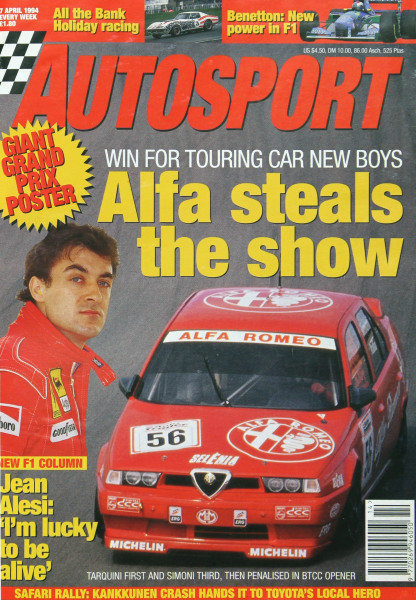 Cover of Autosport magazine, 7th April 1994