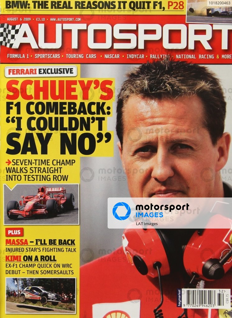 Cover of Autosport magazine, 6th August 2009
