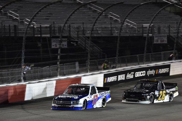 #17: David Ragan, DGR-Crosley Ford F-150 Select Blinds #26: Tyler Ankrum, GMS Racing, Chevrolet Silverado Chevy Silverado