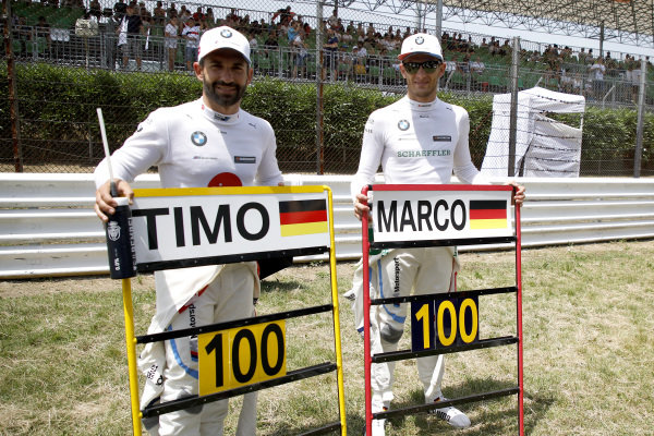 100th races for Timo Glock, BMW Team RMG and Marco Wittmann, BMW Team RMG.