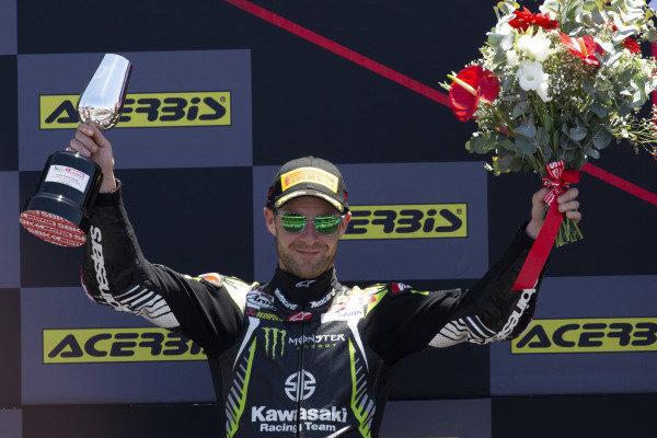 Second place Jonathan Rea, Kawasaki Racing