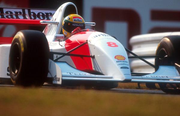 1993 Japanese Grand Prix.Suzuka, Japan.22-24 October 1993.Ayrton Senna (McLaren MP4/8 Ford) 1st position.Ref-93 JAP 01.World Copyright - LAT Photographic