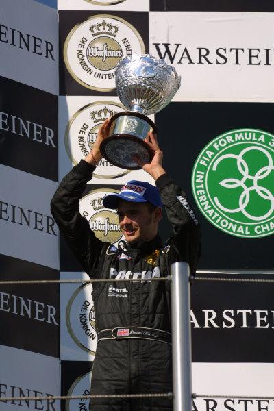 2001 International F3000 Championship - RaceImola, San Marino, Italy. 14th April 2001Darren Manning, Arden Team Russia, 2nd position - podium.World Copyright - LAT Photographicref: 8 9 MB Digital