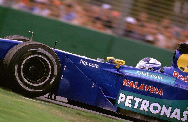 Australian Grand Prix.Albert Park, Melbourne, Australia. 2-4 March 2001.Kimi Raikkonen (Sauber C20 Petronas) 6th position on his Grand Prix debut.World Copyright - Michael Cooper/LAT Photographic ref: 35mm Image Aus A17