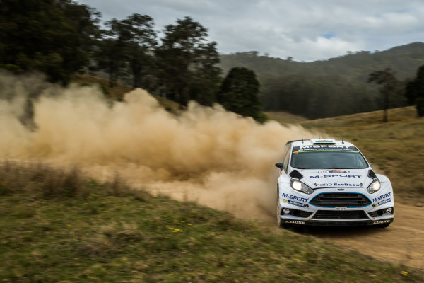 Elfyn Evans (GBR) / Daniel Barritt (GBR) Ford Fiesta RS WRC at FIA World Rally Championship, R10, Coates Hire Rally Australia, Day Two, Coffs Harbour, New South Wales, Australia, 12 September 2015.