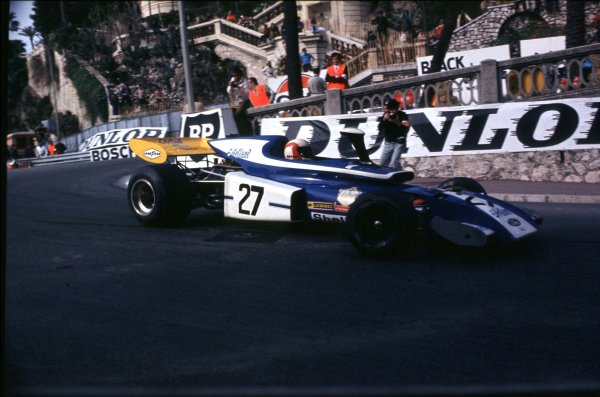1972 Monaco Grand Prix.Monte Carlo, Monaco.11-14 May 1972.Rolf Stommelen (Eifelland 21 Ford) 10th position.  Ref: 72MON40. World Copyright - LAT Photographic