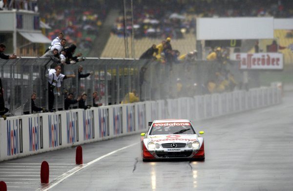 2002 DTM Championship.Hockenheim, Germany. 5-6 October 2002.Bernd Schneider (HWA/Mercedes CLK DTM) 1st position.World Copyright - Andre Irlmeier/LAT Photographic
