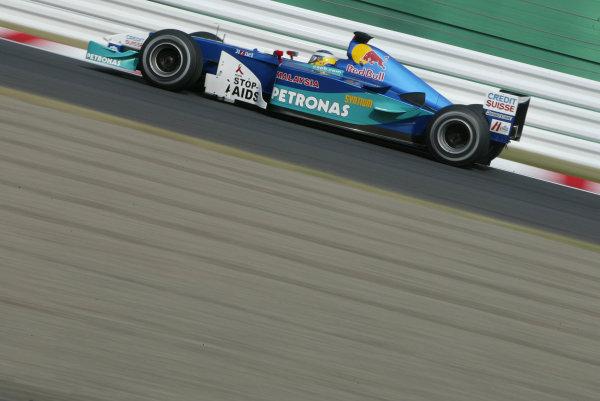 2002 Japanese Grand Prix.Suzuka, Japan. 11-13 October 2002.Nick Heidfeld (Sauber C21 Petronas) 7th position.World Copyright - LAT Photographicref: Digital File Only
