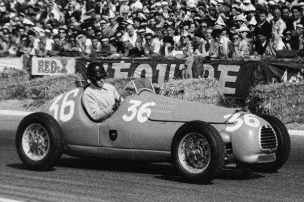 1951 French Grand Prix.Reims-Gueux, France. 1 July 1951.Aldo Gordini (Simca-Gordini T11). Ref-51/32 #22.World Copyright - LAT Photographic