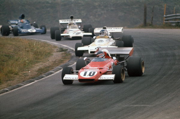 1972 Canadian Grand Prix.  Mosport, Canada. 22-24th September 1972.  Jacky Ickx, Ferrari 312B2, 12th position, leads Carlos Reutemann, Brabham BT37 Ford, 4th position, Denny Hulme, McLaren M19C Ford, 3rd position, and François Cevert, Tyrrell 006 Ford, retired.  Ref: 72CAN54. World Copyright: LAT Photographic