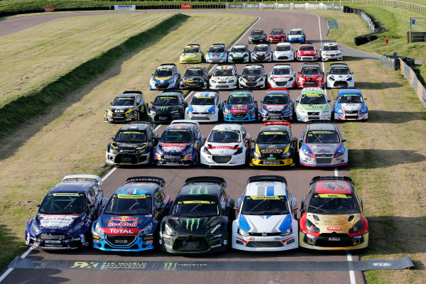 2014 FIA World Rallycross Championship Round 2 Lydden Hill, Great Britain 24th & 25th May 2014 Supercars, Group Shot Worldwide Copyright: McKlein/LAT