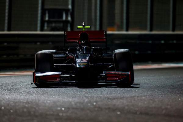 2016 GP2 Series Test 3 Yas Marina Circuit, Abu Dhabi, United Arab Emirates. Friday 2 December 2016. Johnny Cecotto Jr. (VEN, Rapax)  Photo: Zak Mauger/GP2 Series Media Service. ref: Digital Image _L0U4838