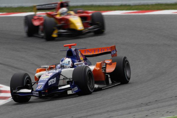 Circuit de Catalunya, Spain. 9th May 2010. Sunday Race.Johnny Cecotto (VEN, Trident Racing). Action. Photo: Andrew Ferraro/GP2 Media Service.Ref: _Q0C3044 jpg
