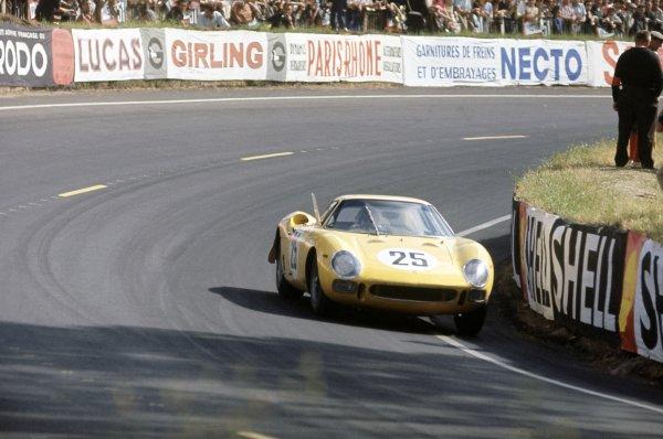 1965 Le Mans 24 hours. Le Mans, France. 19-20 June 1965. Gerard Langlois von Ophem/Leon Dernier (Ferrari 250LM), retired. World Copyright: LAT Photographic Ref: 65LM02