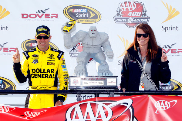 13-15 May, 2016, Dover, Delaware USA Matt Kenseth, Dollar General Toyota Camry celebrates in victory lane  ?2016, Russell LaBounty LAT Photo USA