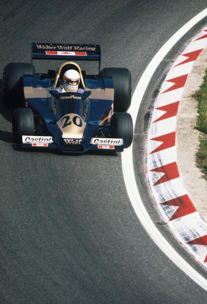 1977 Dutch Grand Prix  Zandvoort, Holland. 26-28 August 1977.  Jody Scheckter, Wolf WR1 Ford, 3rd position.  Ref: 77HOL02. World Copyright - LAT Photographic