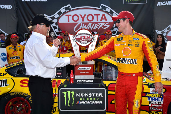Monster Energy NASCAR Cup Series Toyota Owners 400 Richmond International Raceway, Richmond, VA USA Sunday 30 April 2017 Joey Logano, Team Penske, Shell Pennzoil Ford Fusion wins. World Copyright: Rusty Jarrett LAT Images ref: Digital Image 17RIC1rj_4406