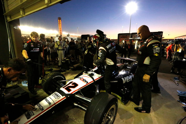 12-15  September 2012, Fontana, California, USAWill Power gets back into his car after his team made a heroic repair after his crash(c) 2012, Michael L. LevittLAT Photo USA