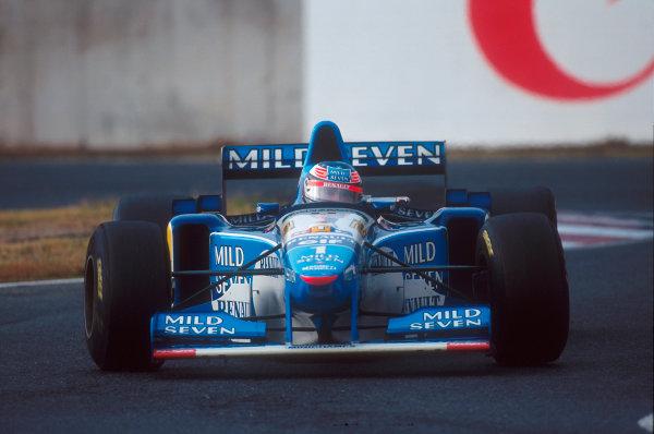 Suzuka, Japan.27-29 October 1995.Michael Schumacher (Benetton B195 Renault) 1st position.Ref-95 JAP 03.World Copyright - LAT Photographic