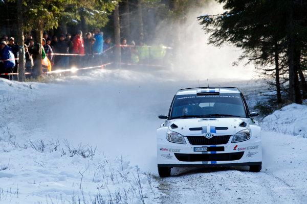 Round 02 - Rally Sweden 09-12 February 2012. Sebastien Ogier, Skoda SWRC, Action  Worldwide Copyright: McKlein/LAT