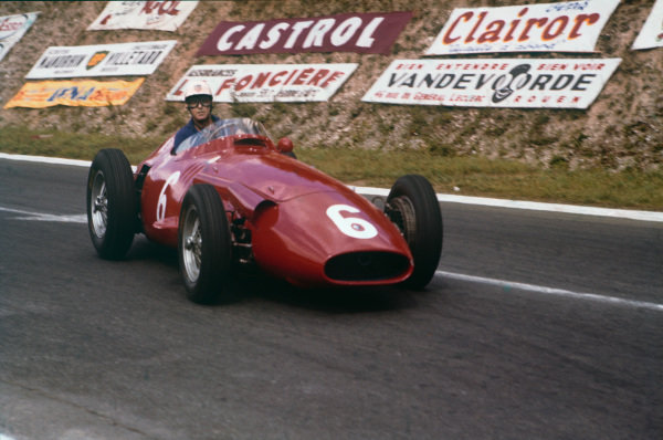 Rouen-Les-Essarts, France. 5-7 July 1957. Harry Schell, Maserati 250F, 5th position. Ref: 57FRA01. World Copyright - LAT Photographic