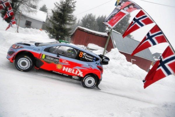 Hayden Paddon (NZL) / John Kennard (NZL) Hyundai i20 WRC at World Rally Championship, Rd2, Rally Sweden, Day One, Karlstad, Sweden, 13 February 2015.