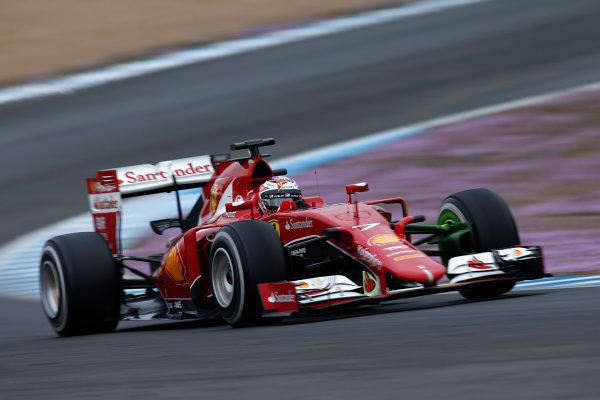 2015 F1 Pre Season Test 1 - Day 1 Circuito de Jerez, Jerez, Spain. Tuesday 3 February 2015. Kimi Raikkonen, Ferrari SF15-T. World Copyright: Glenn Dunbar/LAT Photographic. ref: Digital Image _89P4028