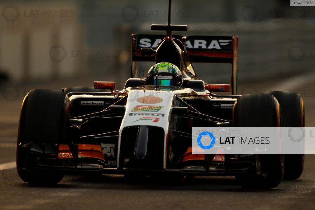 Yas Marina Circuit, Abu Dhabi, United Arab Emirates. Wednesday 26 November 2014.Spike Goddard, Force India VJM07 Mercedes.  World Copyright: Sam Bloxham/LAT Photographic. ref: Digital Image _G7C9927