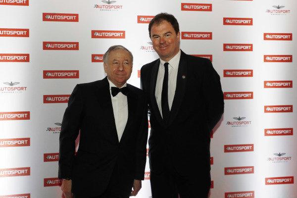 FIA Pesident Jean Todt with Motorsport Network President James Allen
