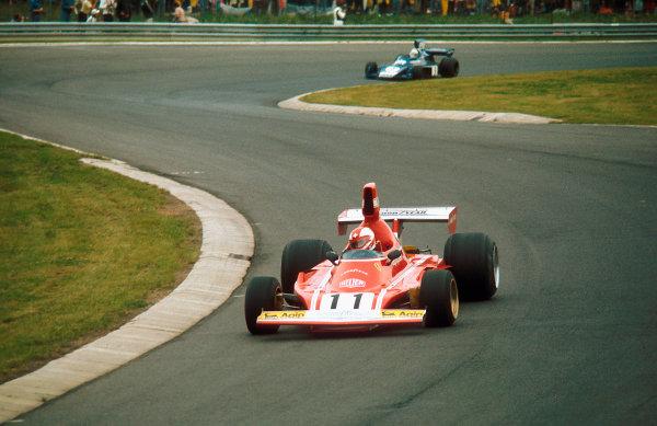 1974 German Grand Prix. Nurburgring, Germany. 2nd - 4th August 1974. Clay Regazzoni (Ferrari 312B3) 1st position.Ref-74 GER 03.World Copyright - LAT Photographic