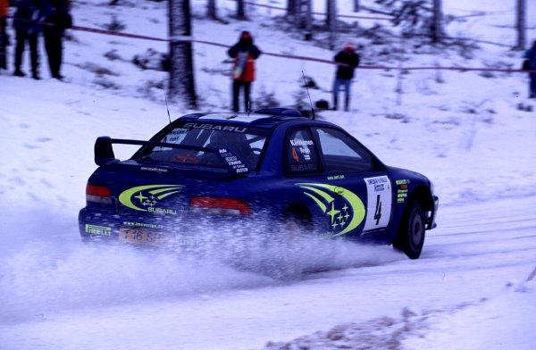 Juha Kankkunen, Subaru Impreza WRCSwedish Rally, Sweden 10-13/2/2000World - McKlein/LAT PhotographicRef: 2K WRC 02