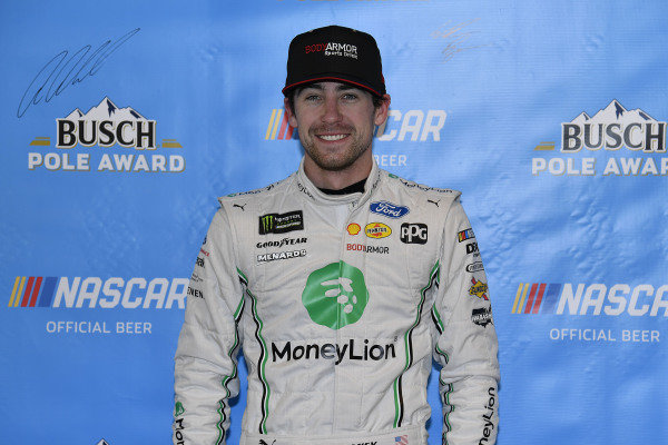 #12: Ryan Blaney, Team Penske, Ford Mustang MoneyLion wins the pole
