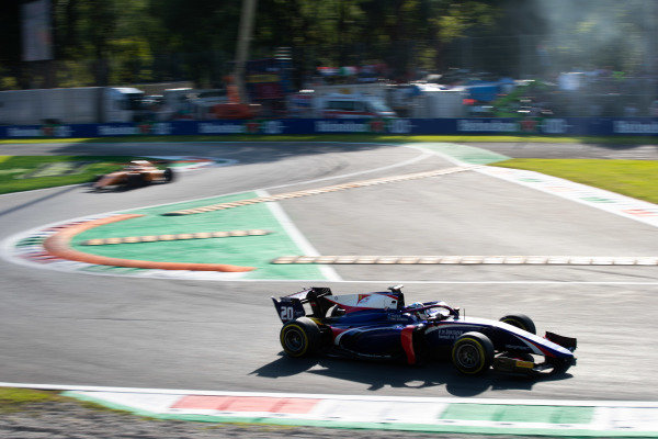 AUTODROMO NAZIONALE MONZA, ITALY - SEPTEMBER 07: Giuliano Alesi (FRA, TRIDENT) during the Monza at Autodromo Nazionale Monza on September 07, 2019 in Autodromo Nazionale Monza, Italy. (Photo by Joe Portlock / LAT Images / FIA F2 Championship)