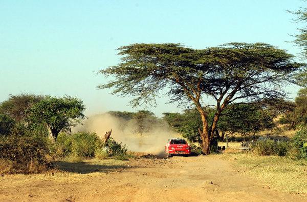 2002 World Rally Championship.Safari Rally, Nairobi Kenya, July 11-14th.Thomas Radstrom on section 10.Photo: Ralph Hardwick/LAT