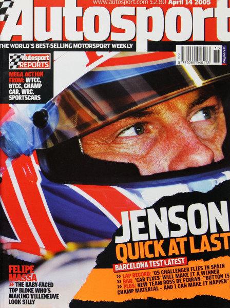 Cover of Autosport magazine, 14th April 2005